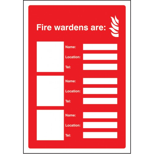 Fire Wardens Are (3 Names - Locations and Numbers)
