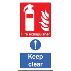 Fire Extinguisher Keep Clear (multi Purpose)