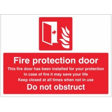 Fire Protection Door - Do Not obstruct