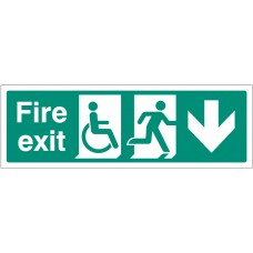 Disabled Fire Exit - Arrow Down