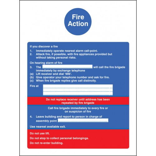 Fire Action with Lift (Dialled Manually)