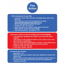 Fire Action Notice - (Stay Put) for Flats
