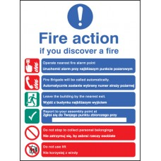 Fire Action Auto Dial with Lift (English - Polish)