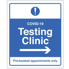 COVID-19 Testing - Pre-booked appointments only (arrow right)