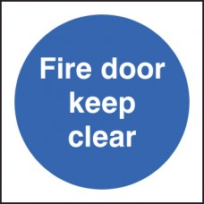 Fire Door - Keep Clear
