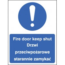 Fire Door Keep Shut (English/polish)