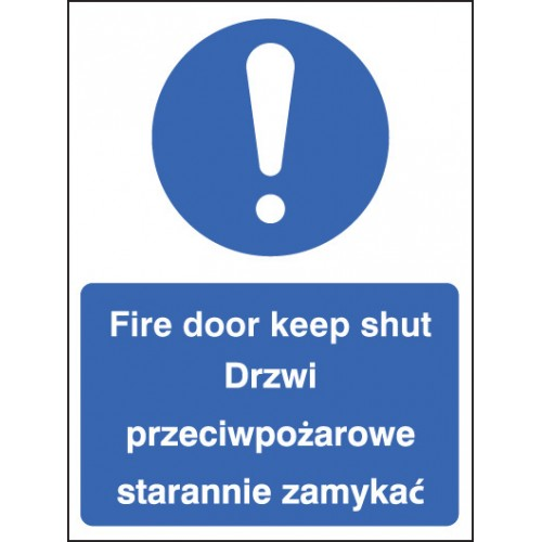 Fire Door - Keep Shut (English/polish)