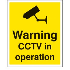 Warning - CCTV in Operation
