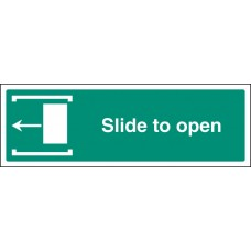 Slide to Open Left