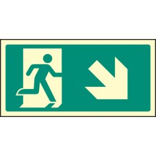 Intermediate Fire Exit Marker - Arrow Down Right