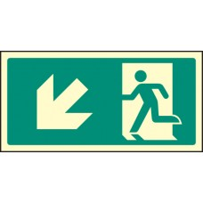 Intermediate Fire Exit Marker - Arrow Down Left