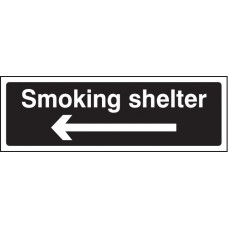Smoking Shelter Left Arrow (white/black)