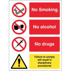 No Smoking, Alcohol, Drugs