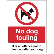 No Dog Fouling it is an Offence Not to Clean up after your Dog