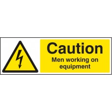 Caution - Men Working on Equipment