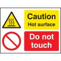 Caution - Hot Surface Do Not Touch