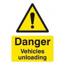 Danger - Vehicles Unloading