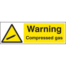Warning - Compressed Gas