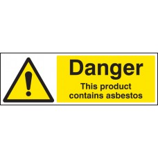 Danger - This Product Contains Asbestos