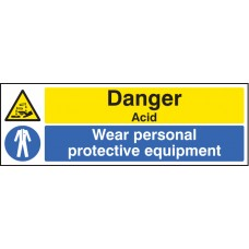 Danger - Acid Wear PPE
