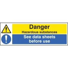 Danger Hazardous Substances See Data Sheets