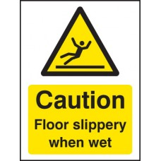 Caution - Floor Slippery When Wet