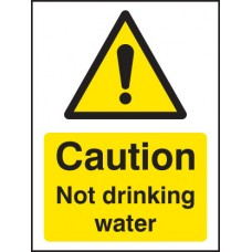 Caution - Not Drinking Water