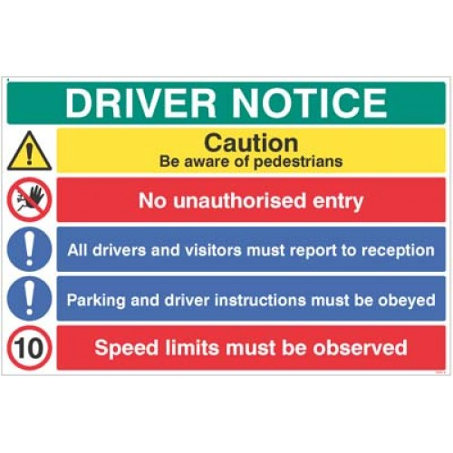 Driver notice Be aware of pedestrian - 10mph?