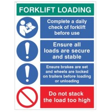 Forklift Loading Daily checks - secure loads?