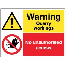 Warning - Quarry workings - keep out