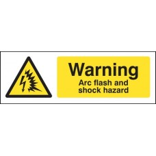 Warning - Arc Flash and Shock Hazard