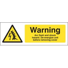 Warning - Arc Flash and Shock Hazard, De-energize Unit before Removing Cover