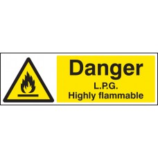 Danger - LPG Highly Flammable