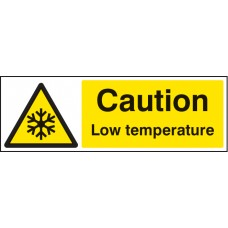 Caution Low Temperature