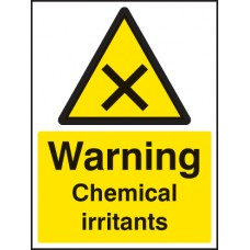Warning - Chemical Irritants