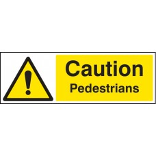Caution - Pedestrians