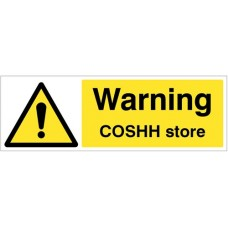 Warning - COSHH store
