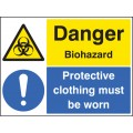 Danger - Biohazard Protective Clothing Must Be Worn