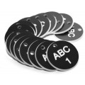 Engraved Valve Tags - Black with White Text