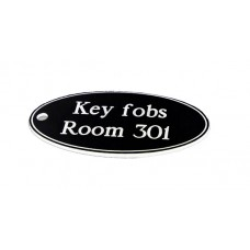 Key Fob - Oval - Black