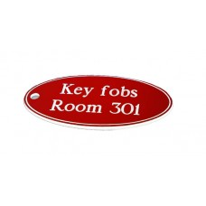Key Fob - Oval - Red