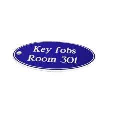 Key Fob - Oval - Blue