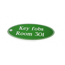 Key Fob - Oval - Green