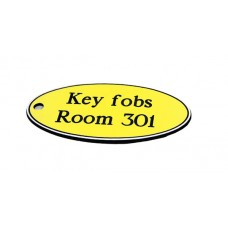 Key Fob - Oval - Yellow