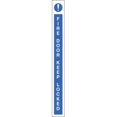 Fire Door Keep Locked - Door Edge Sign