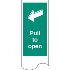 Door Plate - Pull to Open