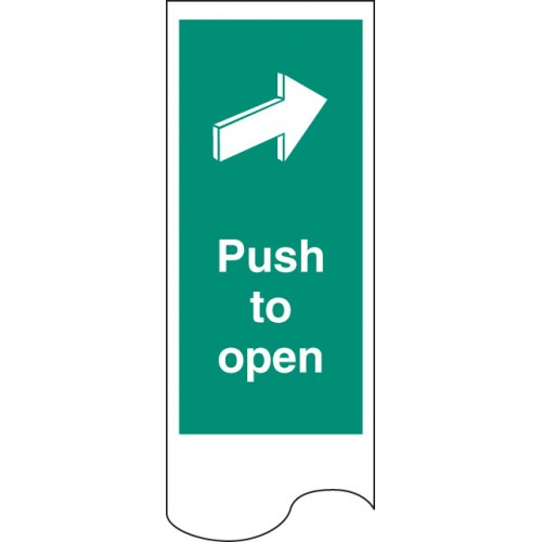 Door Plate - Push to Open