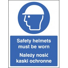 Safety Helmets Must Be Worn (English/polish)