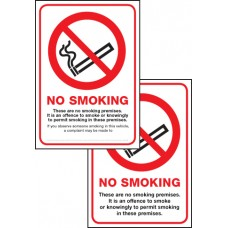 Double Sided No Smoking Premise - (Scotland)
