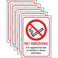 5xNo Smoking - (England and Northern Ireland)